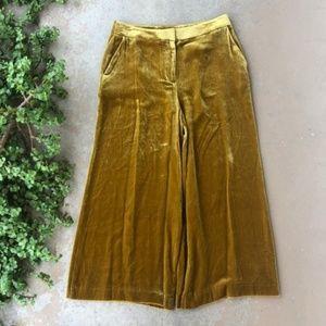 Boden Lyndhurst Velvet Wide Leg Crop Pants